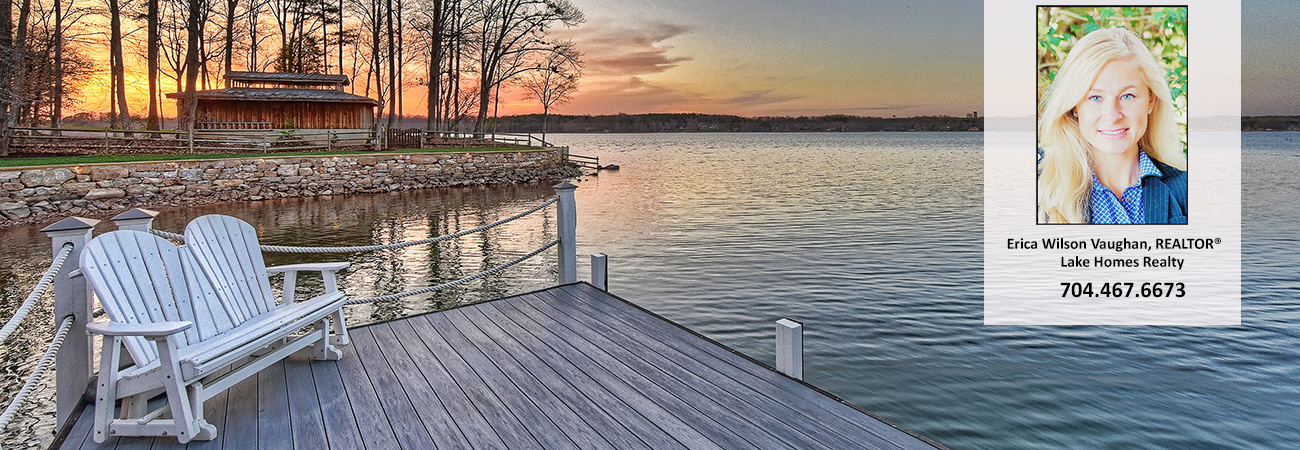 lake norman nc sunset and boat dock erica wilson vaughan realtor lake norman nc lake homes realty